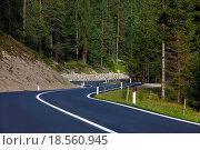 Road in the mouintains. Стоковое фото, фотограф Zoonar/P Gudella / easy Fotostock / Фотобанк Лори