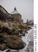 Крепость в Старой Ладоге (2014 год). Редакционное фото, фотограф Александр Громов / Фотобанк Лори