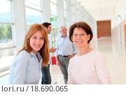 Купить «Portrait of smiling women in business training», фото № 18690065, снято 19 сентября 2018 г. (c) easy Fotostock / Фотобанк Лори