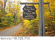 Купить «Entrance to White Mountain National Forest at Historic Sandwich Notch, NH», фото № 18725713, снято 10 января 2019 г. (c) easy Fotostock / Фотобанк Лори