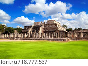 Купить «Chichen Itza Warriors Temple Los guerreros Mexico», фото № 18777537, снято 22 мая 2019 г. (c) easy Fotostock / Фотобанк Лори