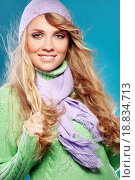 Купить «Beautiful fashion winter girl», фото № 18834713, снято 18 февраля 2020 г. (c) easy Fotostock / Фотобанк Лори
