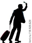 Купить «silhouette man business traveler hurrying late», фото № 18929629, снято 15 ноября 2018 г. (c) easy Fotostock / Фотобанк Лори