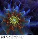 Абстрактный фрактальный цветок. Стоковая иллюстрация, иллюстратор Елена Уткина / Фотобанк Лори
