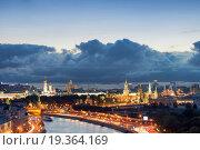 Вечерний пейзаж исторического центра Москвы (2012 год). Стоковое фото, фотограф Сергей Алимов / Фотобанк Лори
