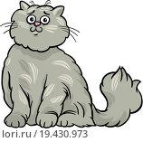 Купить «persian cat cartoon illustration», фото № 19430973, снято 30 мая 2020 г. (c) easy Fotostock / Фотобанк Лори