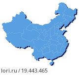 Купить «vector map of People's Republic of China (PRC)», фото № 19443465, снято 18 января 2019 г. (c) easy Fotostock / Фотобанк Лори