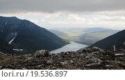 Озеро Голубое. Вид со склона горы Народная. Стоковое фото, фотограф Сергей Серебряков / Фотобанк Лори