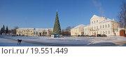 Купить «Новогодняя ёлка на площади 9 Января. Торжок.», фото № 19551449, снято 7 января 2016 г. (c) Павел Москаленко / Фотобанк Лори