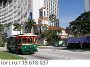 Трамвай в  Майами (2015 год). Редакционное фото, фотограф Корчагина Полина / Фотобанк Лори