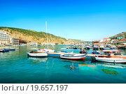 Купить «View of the bay of Balaklava in Crimea.», фото № 19657197, снято 26 июня 2013 г. (c) easy Fotostock / Фотобанк Лори