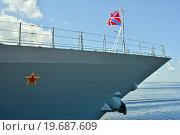 Купить «Форштевень корабля ВМФ», эксклюзивное фото № 19687609, снято 3 июля 2013 г. (c) Александр Алексеев / Фотобанк Лори