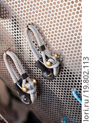 Купить «New cordage assortment on stand close up», фото № 19802113, снято 23 января 2019 г. (c) Яков Филимонов / Фотобанк Лори
