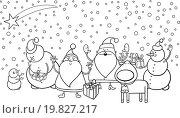 christmas characters coloring page. Стоковая иллюстрация, иллюстратор Zoonar/Igor Zakowski / easy Fotostock / Фотобанк Лори