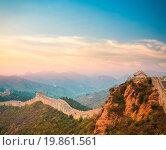 Купить «the great wall in sunset», фото № 19861561, снято 11 июля 2020 г. (c) easy Fotostock / Фотобанк Лори