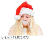 Купить «crazy girl in a Santa hat», фото № 19875073, снято 30 мая 2020 г. (c) easy Fotostock / Фотобанк Лори