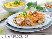 Купить «Turkey rolls», фото № 20003469, снято 1 марта 2019 г. (c) easy Fotostock / Фотобанк Лори