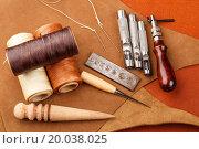 Купить «Homemade leather craft equipment», фото № 20038025, снято 13 июля 2013 г. (c) easy Fotostock / Фотобанк Лори