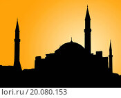 Купить «Silhouette of a mosque in Istanbul against evening sky», фото № 20080153, снято 23 января 2019 г. (c) easy Fotostock / Фотобанк Лори