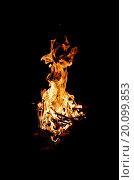 Костер в ночи. Стоковое фото, фотограф Алексей Грим / Фотобанк Лори