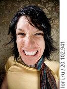 Купить «Young man making an aggressive mean face», фото № 20102941, снято 23 августа 2008 г. (c) easy Fotostock / Фотобанк Лори