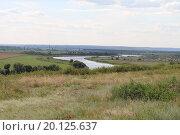 Русский пейзаж с рекой и мостом. Стоковое фото, фотограф Сергей Блинов / Фотобанк Лори