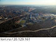 Вид с высоты на жилые районы Московской области (2014 год). Стоковое фото, фотограф Сергей Алимов / Фотобанк Лори