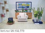 Купить «Living room arranged with modern furniture and flowers», фото № 20132773, снято 23 марта 2008 г. (c) easy Fotostock / Фотобанк Лори