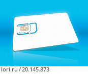 An image of a smart card for cell phones. Стоковое фото, фотограф magann / easy Fotostock / Фотобанк Лори