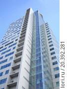 MOSCOW - JUN 19, 2014: The facade of modern high-rise buildings business center Profiko in Moscow, bottom view, фото № 20392281, снято 19 июня 2014 г. (c) Losevsky Pavel / Фотобанк Лори