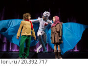 Купить «RUSSIA, MOSCOW - 18 DEC, 2014: Performers are playing the role and standing on a stage at Aquamarine circus.», фото № 20392717, снято 18 декабря 2014 г. (c) Losevsky Pavel / Фотобанк Лори