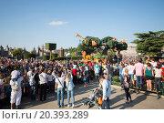 Купить «FRANCE, PARIS - 10 SEP, 2014: Performance of the Lion king in Disneyland.», фото № 20393289, снято 10 сентября 2014 г. (c) Losevsky Pavel / Фотобанк Лори