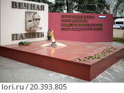 Купить «RUSSIA, MOSCOW - NOV 14, 2014: Close up view of eternal Flame and memorial.», фото № 20393805, снято 14 ноября 2014 г. (c) Losevsky Pavel / Фотобанк Лори