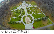 Купить «Rosarium in the botanical garden with footpath, view from unmanned quadrocopter.», фото № 20410221, снято 23 октября 2013 г. (c) Losevsky Pavel / Фотобанк Лори