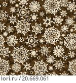 Купить «Бесшовный новогодний фон со снежинками», иллюстрация № 20669061 (c) Владимир / Фотобанк Лори