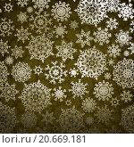 Купить «Фон из нарисованных снежинок», иллюстрация № 20669181 (c) Владимир / Фотобанк Лори
