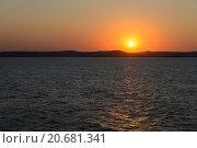 Закат в Керченском проливе. Стоковое фото, фотограф Александр Лещинский / Фотобанк Лори