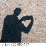 Купить «Тень фотографа с фотоаппаратом», эксклюзивное фото № 20690417, снято 23 сентября 2015 г. (c) Игорь Низов / Фотобанк Лори