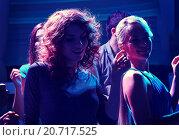 Купить «group of happy friends dancing in night club», фото № 20717525, снято 20 октября 2014 г. (c) Syda Productions / Фотобанк Лори