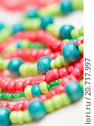 Купить «glass beads and thread beads», фото № 20717997, снято 30 сентября 2015 г. (c) Типляшина Евгения / Фотобанк Лори