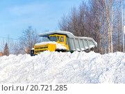 Купить «БелАЗ засыпанный снегом», фото № 20721285, снято 31 января 2015 г. (c) Евгений Ткачёв / Фотобанк Лори