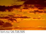 Купить «Небесный пейзаж в золотистых тонах», фото № 20726505, снято 30 мая 2015 г. (c) Сергей Трофименко / Фотобанк Лори