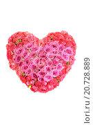 Большой букет цветов в форме сердца. Стоковое фото, фотограф Андрей Новосёлов / Фотобанк Лори