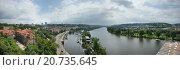Река Влтава, Чехия (2010 год). Редакционное фото, фотограф Ольга Галахова / Фотобанк Лори