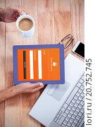 Купить «Composite image of online banking», фото № 20752745, снято 30 марта 2020 г. (c) Wavebreak Media / Фотобанк Лори