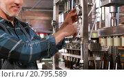 Купить «Smiling brewery worker with arms crossed», видеоролик № 20795589, снято 9 апреля 2020 г. (c) Wavebreak Media / Фотобанк Лори