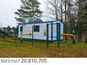 Купить «Газораспределительная станция с питанием автоматики от солнечных батарей в посёлке Вырица», эксклюзивное фото № 20810705, снято 13 декабря 2015 г. (c) Максим Мицун / Фотобанк Лори