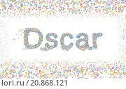 Купить «Oscar, Male name coated with various colorful flowers», фото № 20868121, снято 21 марта 2019 г. (c) PantherMedia / Фотобанк Лори