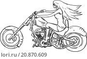 Купить «Girl on motor», иллюстрация № 20870609 (c) PantherMedia / Фотобанк Лори