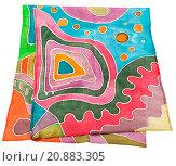 batik silk scarf with abstract geometric pattern. Стоковое фото, фотограф Valery Vvoennyy / PantherMedia / Фотобанк Лори